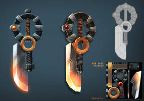 Knife weapon development by BenjaminWiddowson
