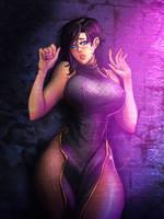 Sense: A Cyberpunk Ghost Story - Alt costume B? by BenjaminWiddowson