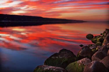 Autumn Sunset by Behrfeet