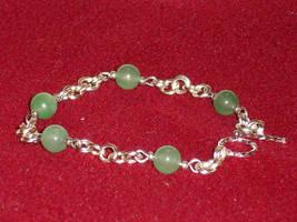 Chain Maille Aventurine Bracelet by Batalha-Enterprises