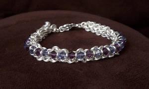 Crystal Chain Maille Bracelet by Batalha-Enterprises