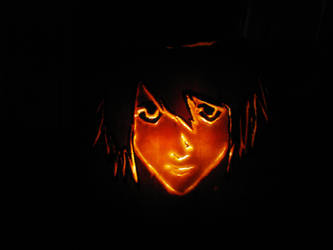 Death Note L Pumpkin! by devotedsoul11111
