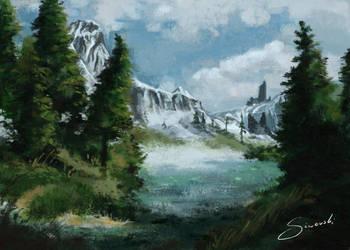 Mountains Landscape by Siwerski