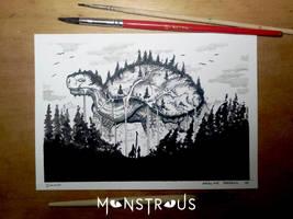 Mountain Wanderer - Monstrous Inktober 2018 by Siwerski
