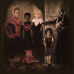 Spider Verse Family Portrait by Siwerski