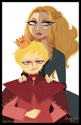 Cersei and Joffrey Baratheon by lujus
