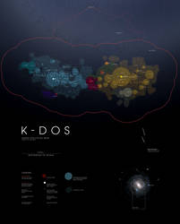 K-DOS Astro-Political Map by supersampled
