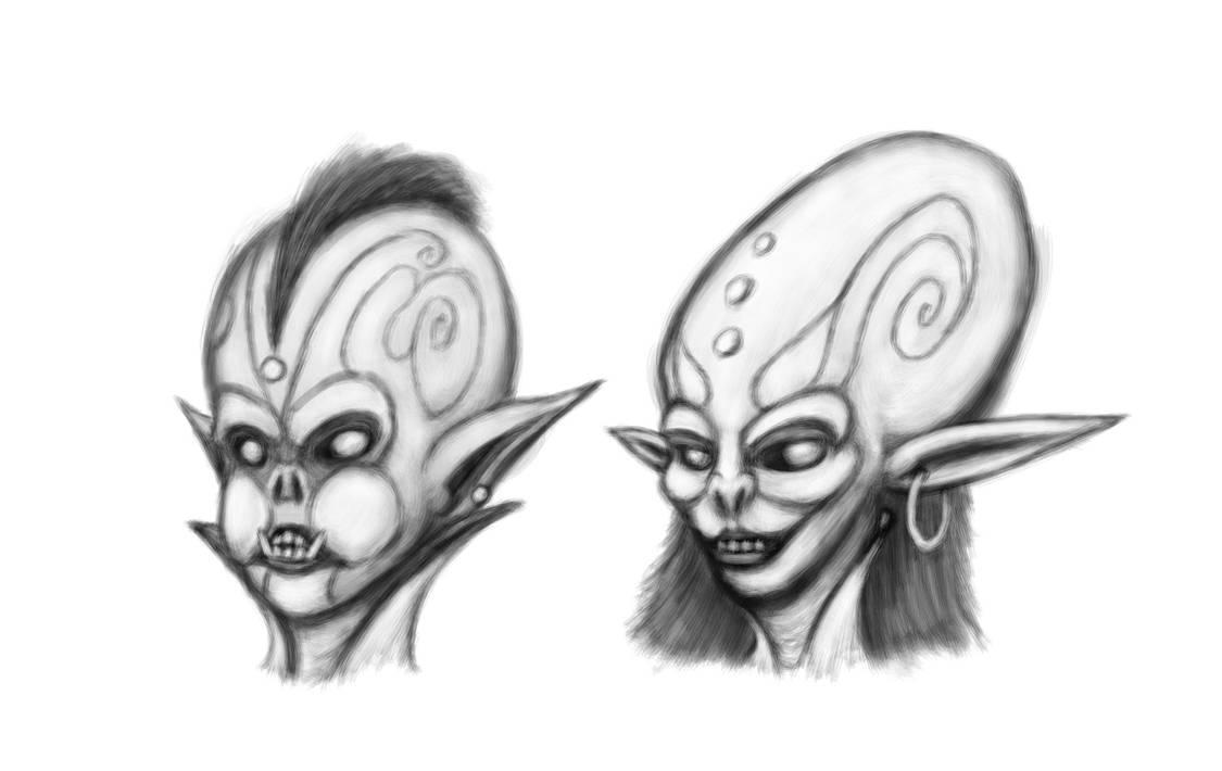 Goblin Portraits by Doudren