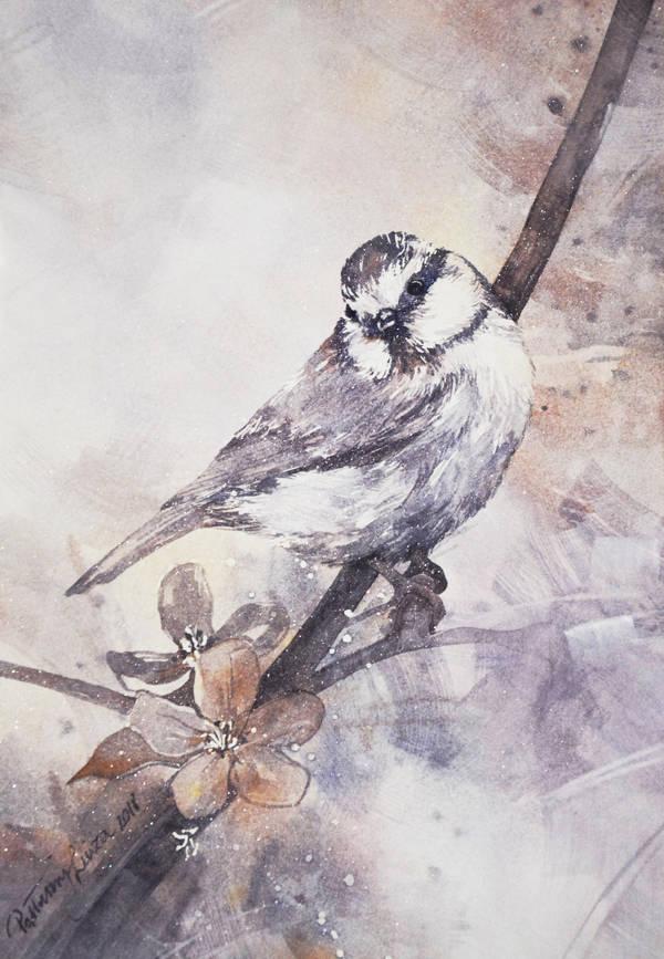 Uccello con fiori by your-confusion