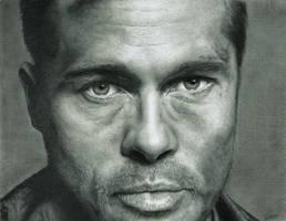 Brad Pitt by Larc-Romeo