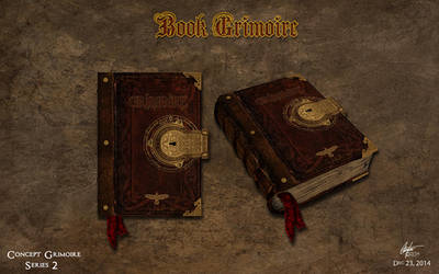 Book Grimoire Concept 2 by Alegion
