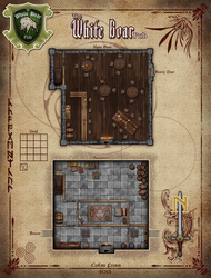 The White Boar Pub RPG Map by Alegion