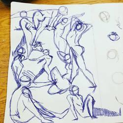 gesture drawings  by Seaninmate