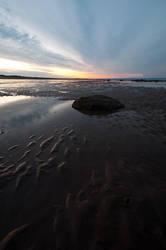 Low Tide Dusk by taffmeister
