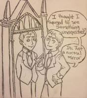 George and the Mirror of Erised by DidxSomeonexSayxMad