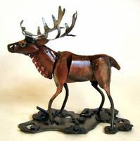 Elk Sculpture by Angi-kat