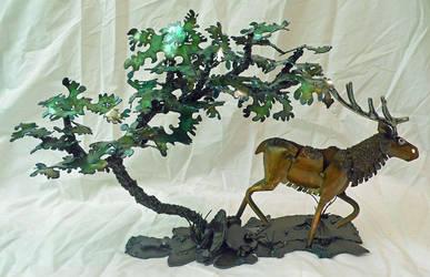Trotting Elk Mantle Piece by Angi-kat