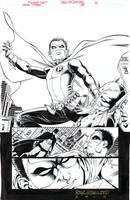 TEEN TITANS #88-Awesome ROBIN (Damian) SPLASH by DRHazlewood