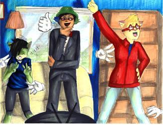 Commission- Joe, Ellie, and Pheobe by erisabesu-kuro-gosai
