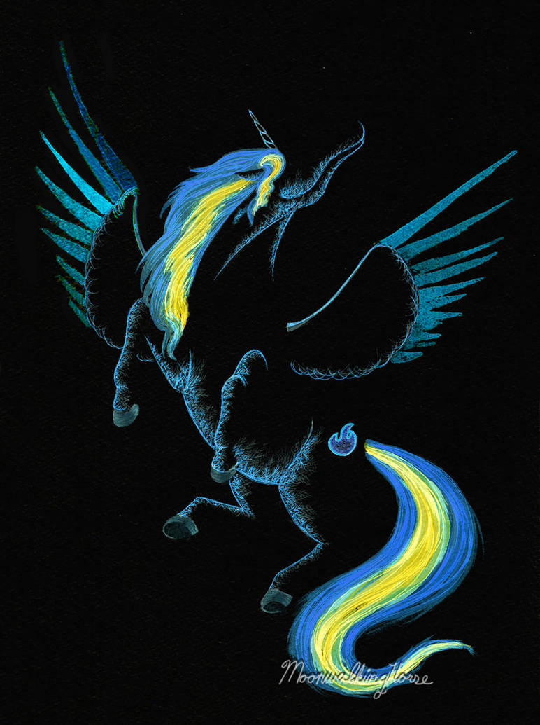 Commission: Nightingale, MLP by MoonwalkingHorse