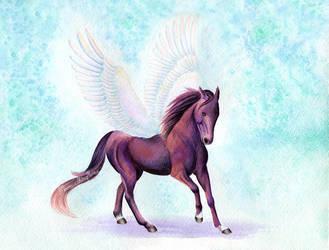 Commission: San City, Hanoverian Stallion by MoonwalkingHorse