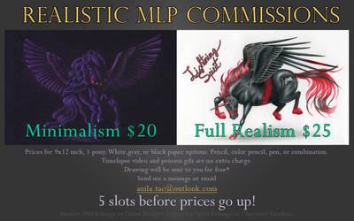Open!~Realistic MLP Commission Info by MoonwalkingHorse