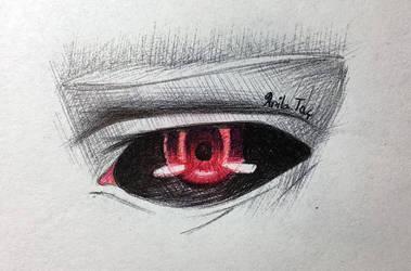 Kaneki Eye Doodle by MoonwalkingHorse