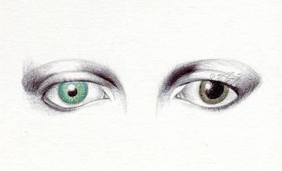 David Bowie Eyes (w/ tutorial video) by MoonwalkingHorse