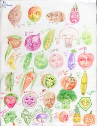 August Fruity Faces by MoonwalkingHorse