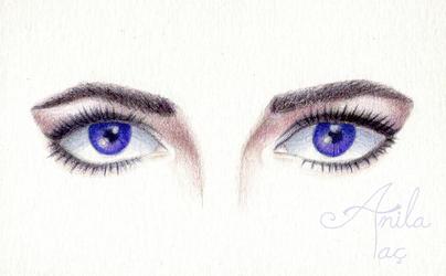 Elizabeth Taylor Violet Eyes (w/ time lapse video) by MoonwalkingHorse