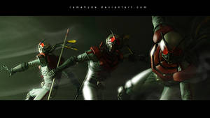 KAMEN RIDER X SIC 3 CROSSED by RAMAHYDE
