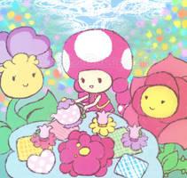 Toadette's Tea Party by Bon-Bon-Bunny