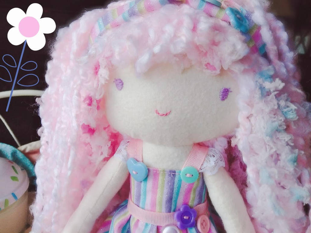 Handmade Pastel Dolly by Bon-Bon-Bunny