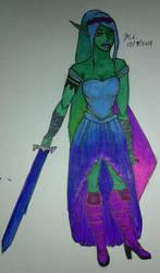 elven princess warrior by pumpedhorses