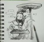 Griffia Inktober 3 Mushroom by Tigress144