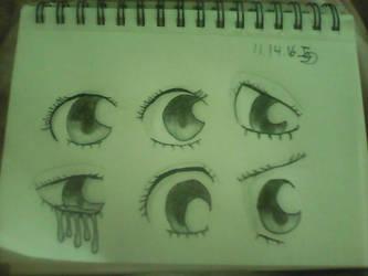 eye expressions by greelytourmaline