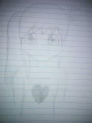 Anime Girl Sketch by greelytourmaline