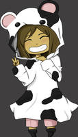 Chibi me... cow .:With BG:. by Nilopher