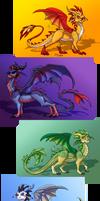 Assorted Cartoony Dragons by SekoiyaStoryteller