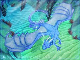 Deep Blue Delight (commission) by SekoiyaStoryteller