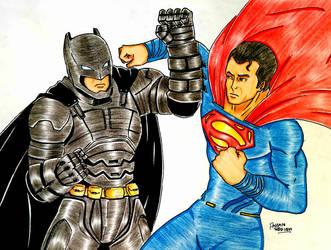 Batman v Superman by RedWing99
