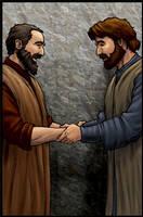 Barnabas Greets Saul by eikonik