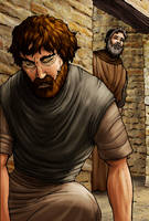 Saul and Ananias by eikonik