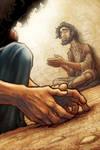 Jesus Heals a Blind Man by eikonik