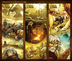 Bible Stories Comic Strips - Genesis 6-7 Noah p1-3 by eikonik