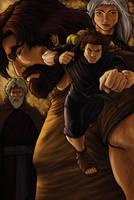 Jacob and Esau by eikonik