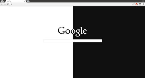 Minimal Google Page Theme by hehe13hehe13