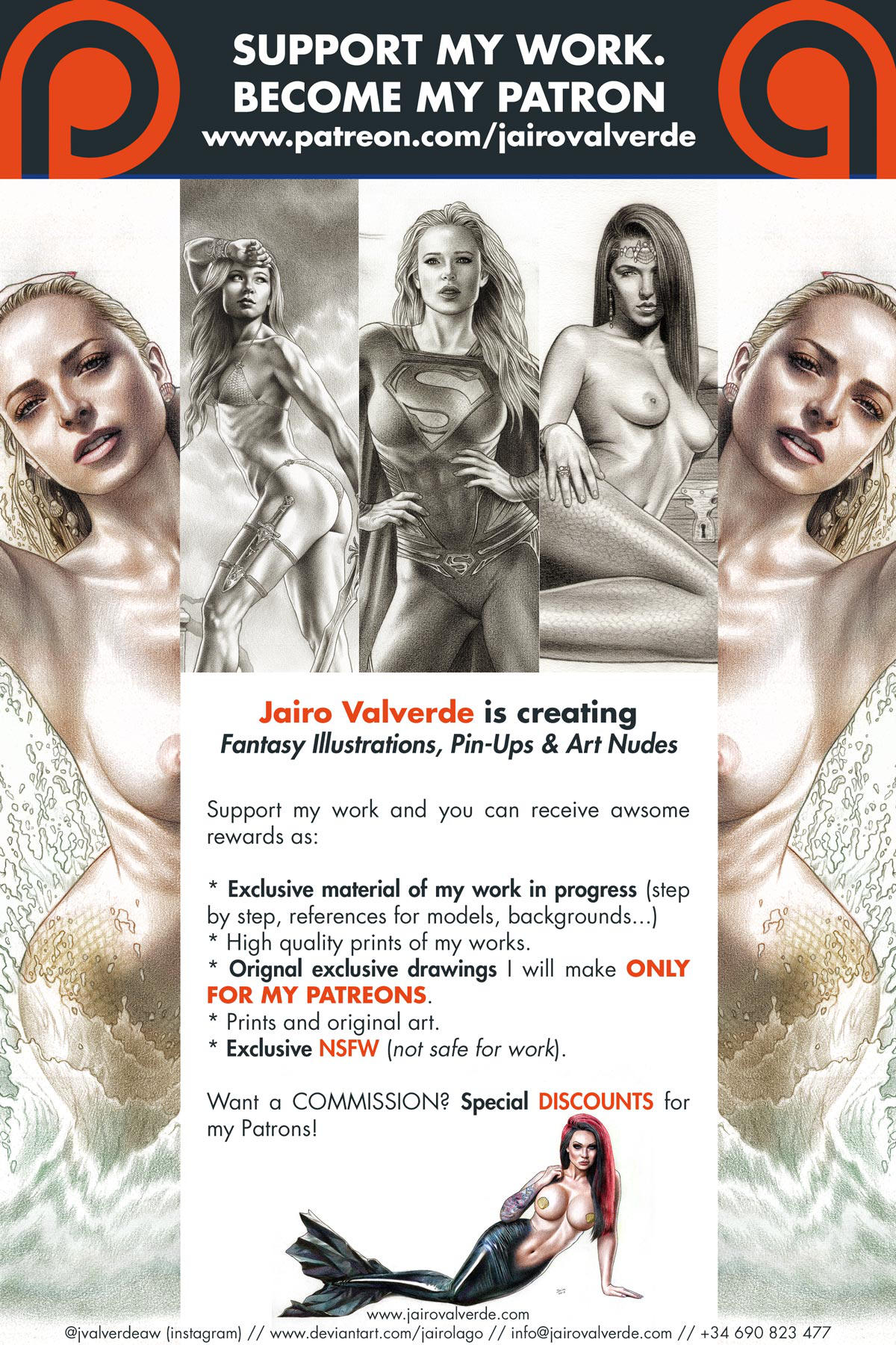 SUPPORT MY WORK - BECOME MY PATRON by jairolago