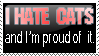 I hate cats stamp by DaniWolfdog
