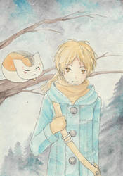 Natsume in winter by clouchan